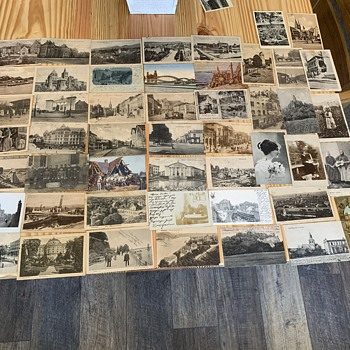 German post cards  with stamps 1897-1907 - Postcards