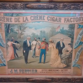 1870's J. M. Fortier Montreal Cigar Advertising Sign - Tobacciana