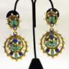 Vintage Kenneth Jay Lane Huge Byzantine Earrings