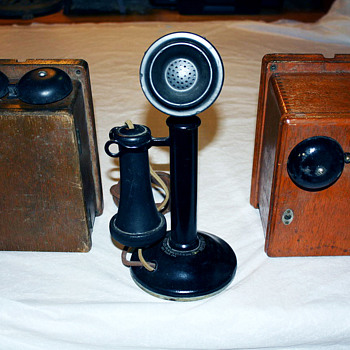 Candlestick Telephone and 2 Ringer Boxes