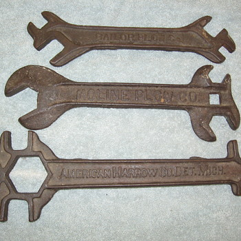 3 Old Farm Tool Wrenches American Harrow/Bailor Plow/Moline Plow Co. - Tools and Hardware