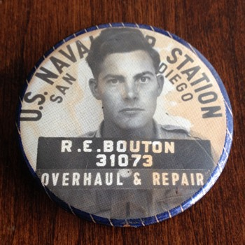 WW2 U.S. Navy San Diego Employee Badge - Military and Wartime