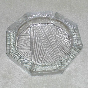 Blenko Clear Ice Ashtray