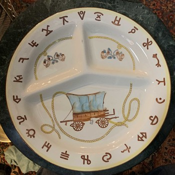 Pioneer / Cowboy Themed Dinner Plates - China and Dinnerware