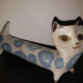 MCM Stoneware Pottery Cat Figurine - Animals