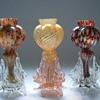 Bohemian Welz Tri-lobed Vases