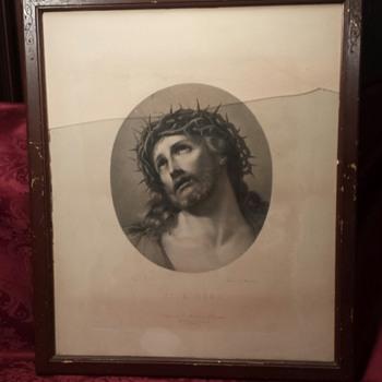 Antique Printing of Ecce Homo by Reni - Fine Art