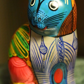 Cute Kitty!  Mexican Pottery - Pottery