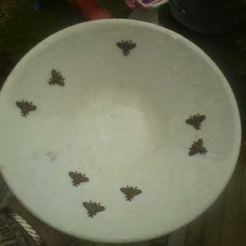 brass bee pottery bowl - Pottery