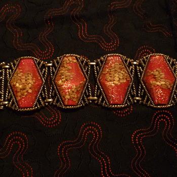 Lucite confetti bracelet - Costume Jewelry