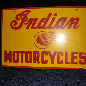 Vintage Indian Motorcycle Sign - Motorcycles