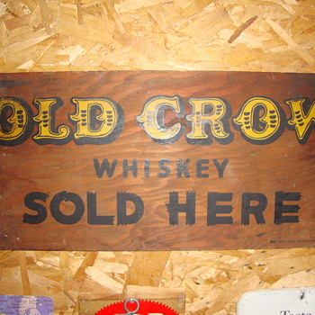 Vintage Old Crow Whiskey Sign........ - Signs