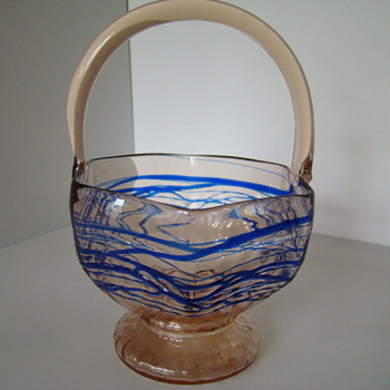 Kralik basket Art Deco era - Art Deco