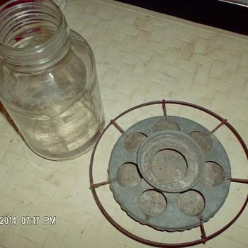 Glaas Jar chicken feeder - Glassware