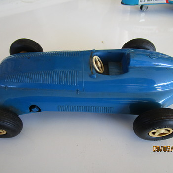 Vintage English Toy Race Car - Toys