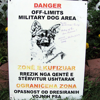 Military Working Dog Sign - Signs