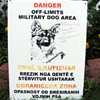 Military Working Dog Sign