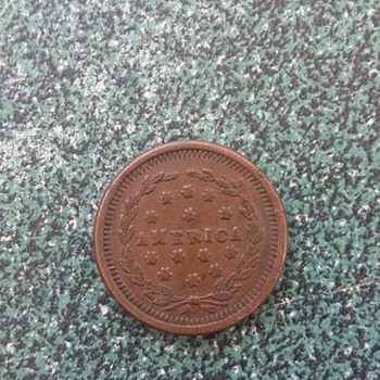 CIVIL WAR TOKEN 1864 EAGLE ON CANNON LIBERTY FOR ALL