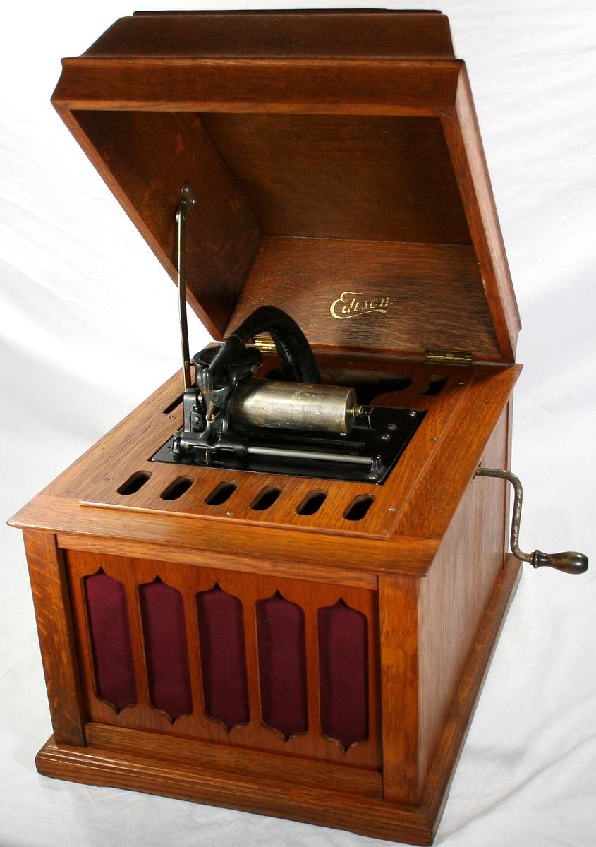 Vinatge Original Oak THOMAS EDISON AMBEROLA 50 Cylinder Phonograph ... for Thomas Edison Phonograph Cylinder  545xkb