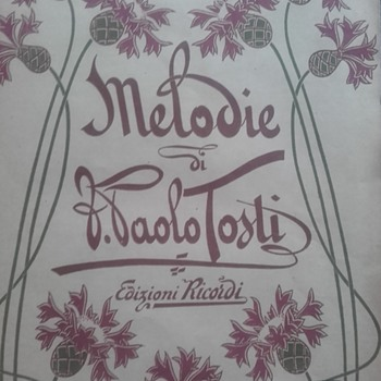 Melodie by Paolo Tosti 1899 - Art Nouveau