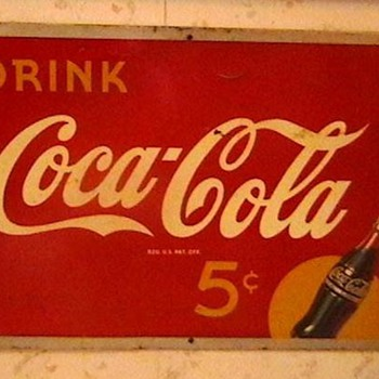 1940s Coca-Cola Sign  - Coca-Cola