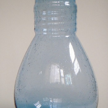 Glass Carafe, Seeded?~handblown~lovely Color & Shape~Look Familiar? - Glassware