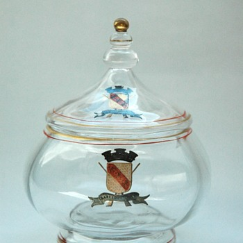an early EMILE GALLE glass bonbonniere circa 1867 - Art Nouveau