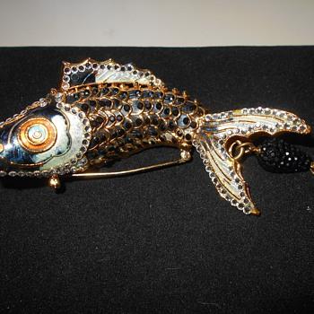 Koi Brooch - Costume Jewelry