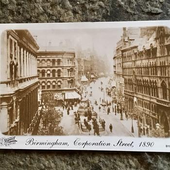 Old Birmingham postcards, city centre, 1890s. - Postcards