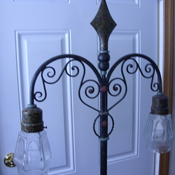 wrought iron floor lamp - Lamps