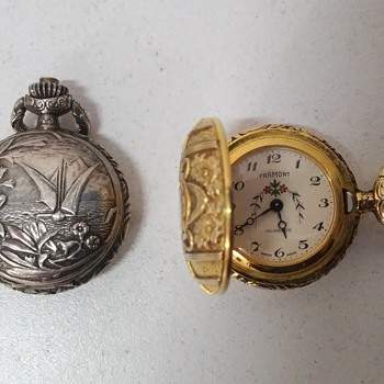 """Framont Incabloc"" silver and gold Pocket Watches - 60's"