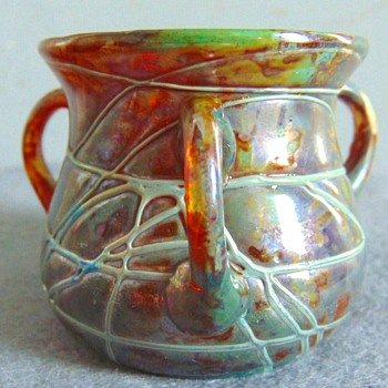 Knicek/Boudnick Pandora Three handled miniature vase. - Art Glass