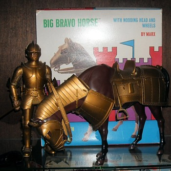 Marx Big Bravo Horse Gold Knight Horse 1970-1972 - Toys