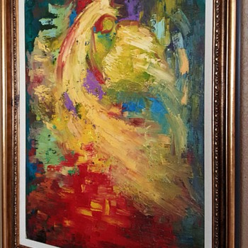 Bertalan Bodnar Original Oil Painting - Fine Art