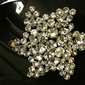 Large Rhinestone Pin - Costume Jewelry