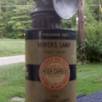 Carbide Miners Light & Can