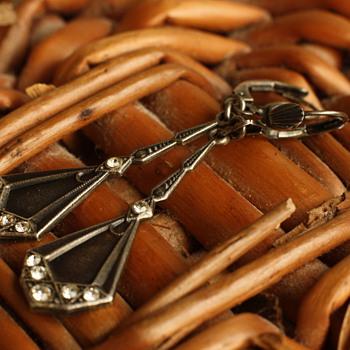 Art deco style silver earrings