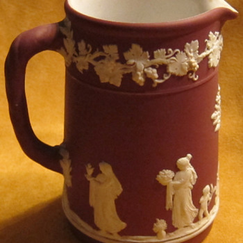 "Wedgwood Crimson Jasperware Milk Pitcher ""Rare Color"""