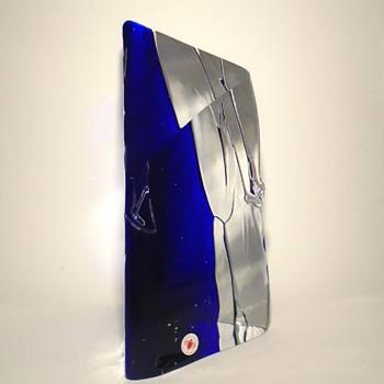"Petr Hora ""iceberg"" art glass sculpture from 1990 -- Skrdlovice and Beranek -- Czech art glass - Art Glass"