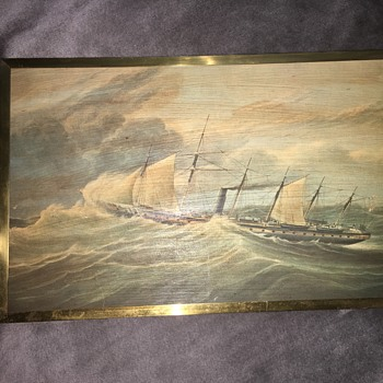 "Henry Papprill Wood Print Of Iron Screw Steamship ""Great Britain"" 1843 - Fine Art"