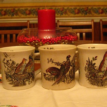 Game Bird Coffee Cups made in England - China and Dinnerware
