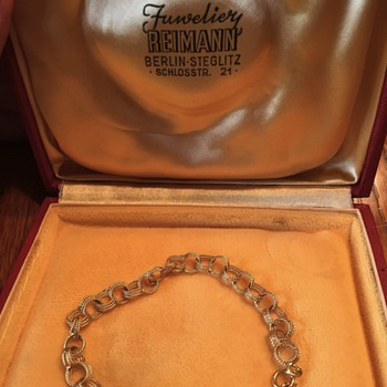 Pre-WWII Germany gold anklet