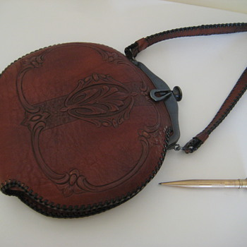 Grandmother's Tooled Leather 1920's Bag - Accessories
