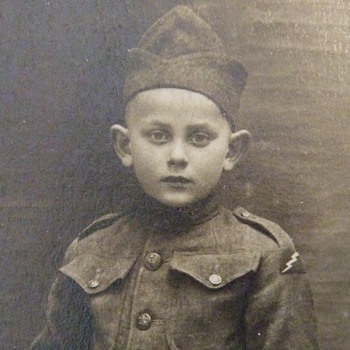 Child in WW1 78th Division PATCHED Uniform - Photographs
