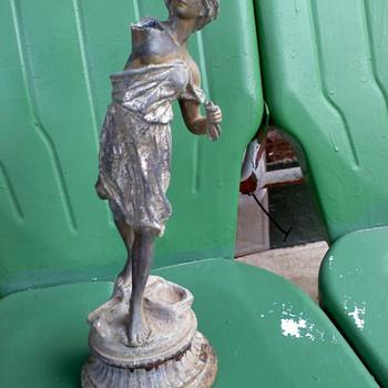 Standing Woman Statue  - Art Deco