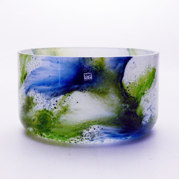 KORAALI bowl, Tamara Aladin (Riihimaki lasi Oy, 1975) - Art Glass