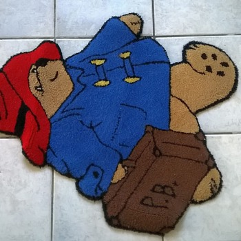 Paddington Bear Wool Area Carpet, Thrift Shop Find $1.00, Inspected By Luna