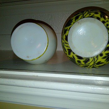 Bottoms of Unmatched Set - Art Glass