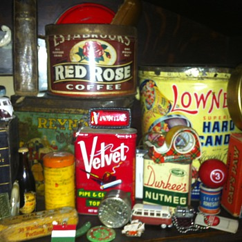 old tins etc. - Advertising