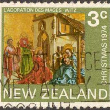 "1974 - New Zealand ""Christmas"" Postage Stamp - Stamps"